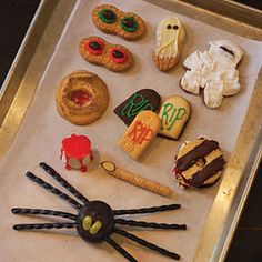 Tombstone Cookies and Gingerbread Mummies
