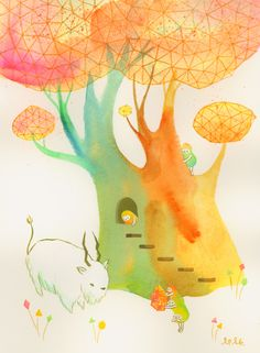 The artist duo behind Apak studio, Aaron and Ayumi, paint glowing acrylic stories and sculptures charming and original.