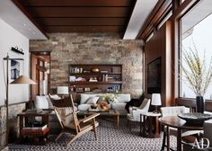 Rustic Living Room By Studio Sofield And Studio B Architects In Aspen,  Colorado