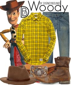 Disneybound: woody from Toy story Disney Characters Costumes, Character Costumes, Character Outfits, Toy Story, Woody Costume, Disney Inspired Fashion, Disney Fashion, Estilo Disney, Disney Artwork
