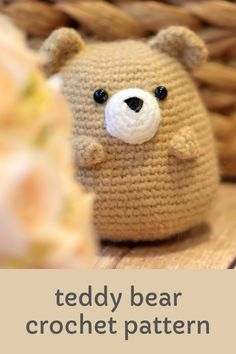 Learn how to get started with amigurumi with this adorable crochet teddy bear pattern. Create your own cute crochet teddy bear with this easy crochet pattern! Cute and kawaii, this basic and beginner friendly DIY project is perfect for any crocheter. This stuffed animal bear amigurumi is perfect for home decor. This stuffed doll is a bear plushie for anyone who loves animals! Easy and free stuffed animal bear. Great project for holiday gifts! Crochet Teddy Bear Pattern, Crochet Bunny, Cute Crochet, Crochet For Kids, Crochet Toys, Crocheted Animals, Easy Crochet Patterns, Amigurumi Patterns, Bear Patterns