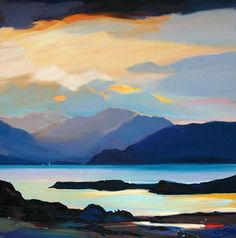 "Afternoon Sound, Skye 32""x32"""