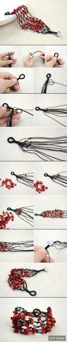 DIY Coral Beads Brac
