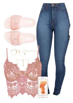"""""""5.6.16"""" by xoadiraxo on Polyvore featuring Puma, WithChic, Forever 21 and Oliver Peoples"""