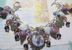 Little Fairy   Purple glass beads and crystals   by Bostoncharm, $32.00