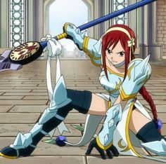Erza Scarlet (エルザ・スカーレット Eruza Sukāretto) is an S-Class Mage of Fairy Tail who is famous for her usage of Requip Magic. She is also a member of Team Natsu, as well as one of the main female protagonists of the series. Fairy Tail Girls, Fairy Tail Art, Fairy Tail Anime, Fairy Tales, Erza Scarlet Armor, Fairy Tail Erza Scarlet, Scarlet Witch, Erza Et Jellal, Erza Scarlett