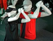 Female and Male Golf Mannequins #shopforshops #custommannequins #golfmannequin #custom #sporting #mannequinsandbodyforms