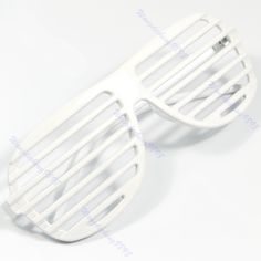41fbe335790 Full Shutter Glasses Shades Sunglasses Club Party White  X0158Q  Drop  shipping Party Co