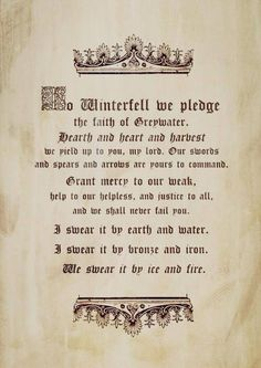 House Reed of Greywater Watch oath to House Stark