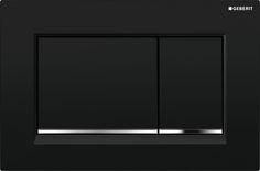 Geberit Sigma30 bedieningsplaat, zwart / glansverchroomd / zwart ► [https://www.geberit.be/producten/badkamerproducten/bedieningsplaten-en-wc-besturingen/] ••• Plaque de déclenchement Geberit #Sigma ¨[https://www.geberit.be/produits/produits-pour-la-salle-de-bains/plaques-de-declenchement/30]  noir / chromé brillant / noir ► []