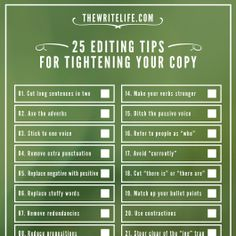 25 Editing Tips for Tightening Your Copy: Now a Printable Checklist