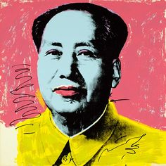 The influential Pop artist Andy Warhol cast a cool, ironic light on the pervasiveness of commercial culture and contemporary celebrity worship.In this example from his Mao series, Warhol melded his signature style with the scale of totalitarian propaganda to address the cult of personality surrounding Chinese ruler Mao Zedong (1893–1976).