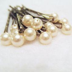 ❥ Pearl Hair Pins
