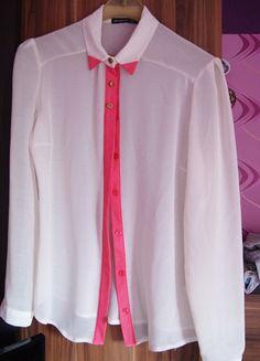Kup mój przedmiot na #vintedpl http://www.vinted.pl/damska-odziez/koszule/9696087-atmosphere-mgielka-lamowka-rozowy-neon-zlote-guziki