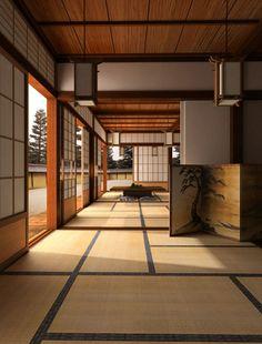 architecture du Japon avec chambre vaste