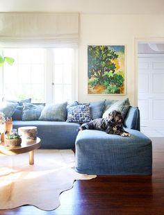CUFFHOME Before and After: A Stylish Home Gets a Spring Refresh via @domainehome