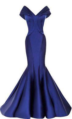 Stunning Satin Off-the-shoulder Neckline Mermaid Evening Dresses