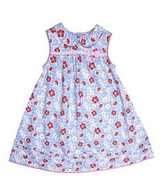 Love this Blue Floral Peter Pan Swing Dress - Infant on #zulily! #zulilyfinds