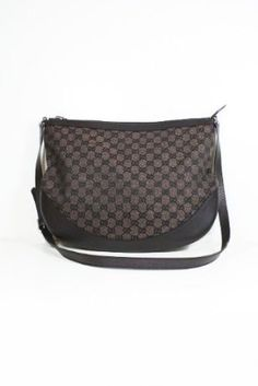 534035bbf8 This authentic Gucci Brown canvas and leather 272380 handbag (messenger)  comes directly from designer boutiques - Dark Brown canvas and leat .