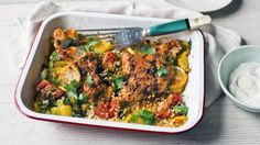 "Harissa adds a wonderful smoky spice to the delicate flavour of white fish in this dish while the bulgur topping adds a healthy crunch.   With a GI of 41, this meal is <a href=""http://www.bbc.co.uk/food/collections/high-protein_low-gi_recipes"">high protein, low GI</a> and provides 453 kcal per portion."