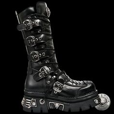 New Rock High Reactor Boots Men's Boots, Shoe Boots, New Rock Boots, Lolita Goth, Gothic Shoes, Punk Rave, Cute Shoes, Steampunk, Cool Outfits
