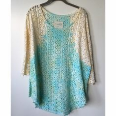 Free People Top Absolutely love this top and I ALWAYS get compliments when I wear it. I just think it's too big on me and would prefer an xs. I don't wear it as much as I should and I need the money. This would fit a small through large. Free People Tops