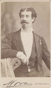 Alexander Hermann (1844-1896)    Alexander Hermann was one of the most famous magicians of the 19th century. He achieved great wealth and notoriety. He owned a mansion on Long Island, his own railroad car, and a personal yacht. He made Lincoln laugh when he performed in the White House.  Date: 1870 circa 5 years