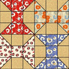 Spool quilt block
