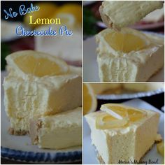 This No-Bake Lemon Cheesecake Pie is so creamy and bursting with fresh flavors. Sweet and tart the lemon flavor is ahh-mazing! No Bake Lemon Cheesecake, Cheesecake Pie, Lemon Meringue Pie, Cheesecake Recipes, Pie Recipes, Dessert Recipes, Lemon Desserts, No Bake Desserts, Lemon Cream Cheese Pie
