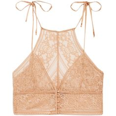 Stella McCartney Ophelia Whistling stretch-Leavers lace soft-cup bra (£120) ❤ liked on Polyvore featuring intimates, bras, tops, underwear, lingerie, bra, peach, lacy lingerie, soft cup bra and lingerie bra