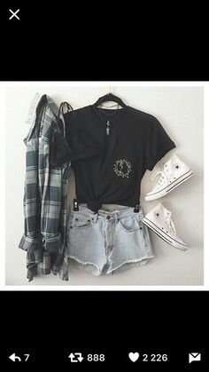 Summer teen, flannel outfits summer, hipster outfits for teens, outfits Hipster Outfits For Teens, Casual Summer Outfits For Teens, Summer Fashion For Teens, Teen Fashion Outfits, Mode Outfits, Trendy Outfits, Hipster Fashion, Teenage Outfits, Fashion Clothes