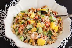 Carolines blog: Mango-rijstsalade met rivierkreeftjes
