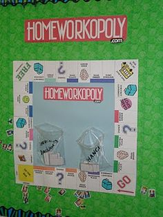 Cool classroom idea to reward students for bringing back homework
