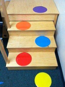 spots on stairs