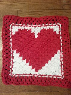 A simple heart for corner-to-corner crochet projects. This can easily be used as the center panel in a newborn lovey (as pictured), or any number of other projects: pillows, afghan squares, etc.