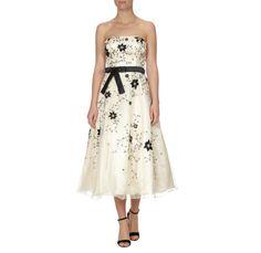 NIENTE Abendkleid mit Blüten-Stickerei - Full Length Front 1