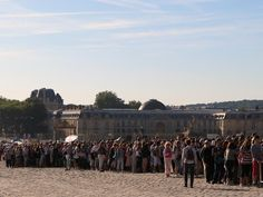 the line to get into Le Chateau de Versailles, french for The Palace of Versailles, just outside Paris, France www.thebrighterwriter.blogspot.com