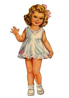 Baby Mine - Kathy - Picasa Web Albums DIY Paper Lanterns Paper lanterns come in diverse sizes and st Vintage Paper Dolls, Vintage Crafts, Vintage Sewing, Vintage Girls, Vintage Children, Doll Toys, Baby Dolls, Paper Toys, Paper Crafts
