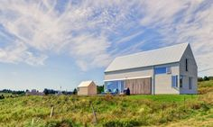 Halifax-based firm MLS Architects, has designed the barn-inspired Muir Craig house to pay homage to the local vernacular.
