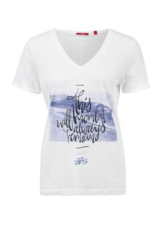 Buy V-neck T-shirt with appliqués | s.Oliver shop