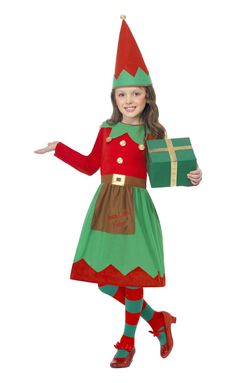 Red dress xmas elf