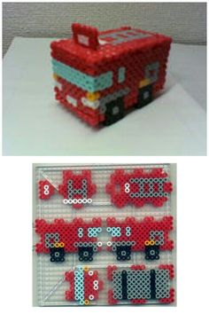 3D Bus perler beads