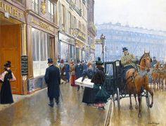 La Devanture du Couturier Doucet (Jean-Georges Béraud - )