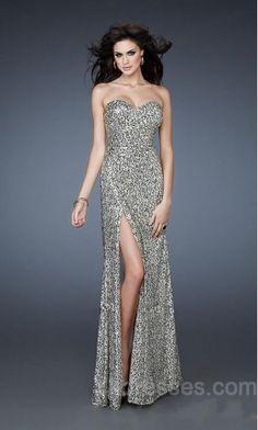 Column Sleeveless Lace Sweetheart Natural Evening Dresses ykdress6358