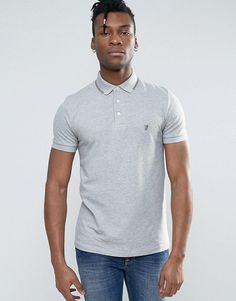 French Connection Polo Shirt with Twin Tip Collar