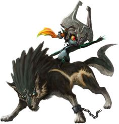 Midna on wolf Link from The Legend of Zelda: Twilight Princess maybe the official artwork for the game.
