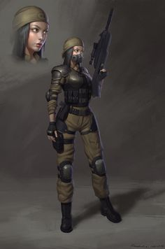ArtStation - Soldier girl, Naranbaatar Ganbold