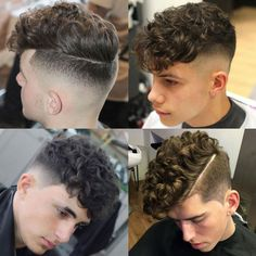 Curly Undercut Fade