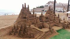 Esculturas playa Peniscola