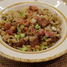 My husband, Mark, absolutely LOVES this recipe. I always make it on New Year's Day. It's said to bring good luck for the whole year. So far, it hasn't been wrong! Happy New Year!